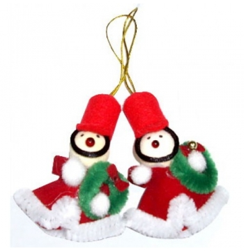 ​Two Little Santa Christmas Ornament to Manila
