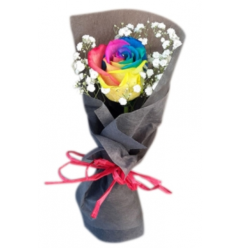 online single rainbow rose bouquet manila