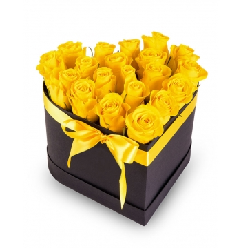 buy 12 yellow roses box philippines