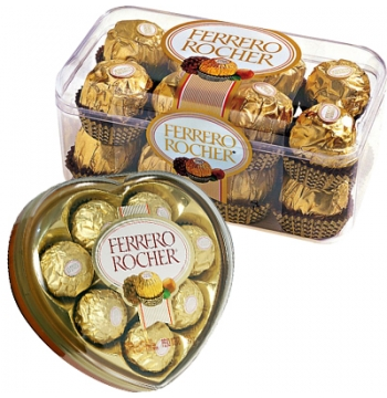 Send Ferrero Rocher Heart Shape & 16 pcs Box to Manila Philippines