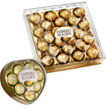 Heart Shape W/ 24 pcs Ferrero Chocolate Box