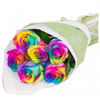 send rainbow roses bouquet manila