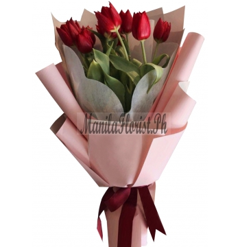 online 6 piece red tulips manila