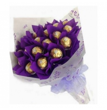 16pcs Ferrero Rocher in a Bouquet to Manila
