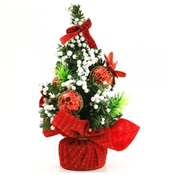 20cm Red Mini Christmas Tree