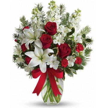 ​White Christmas Flowers Send to Manila