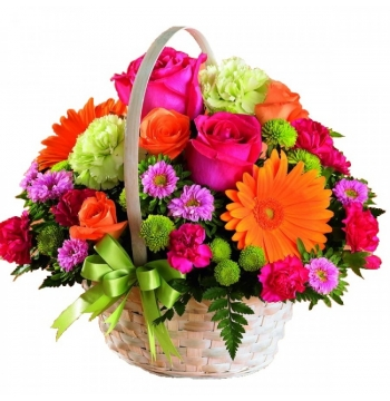 Vibrant Flower Basket to Manila Philippines