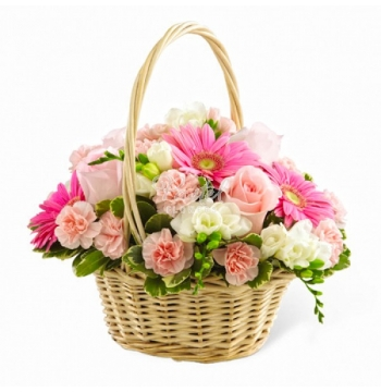 Pink Dreams Flower Basket Send to Manila Philippines