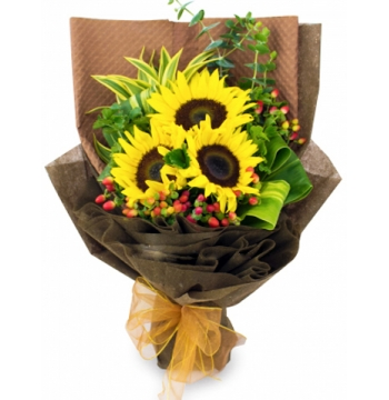 beautiful sunflower in bouquet to manila