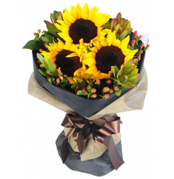 send 3 pcs sunflower in bouquet to philippines