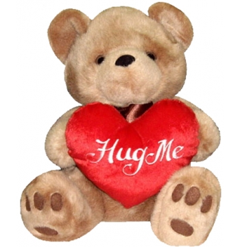 brownie bear hug me heart bear