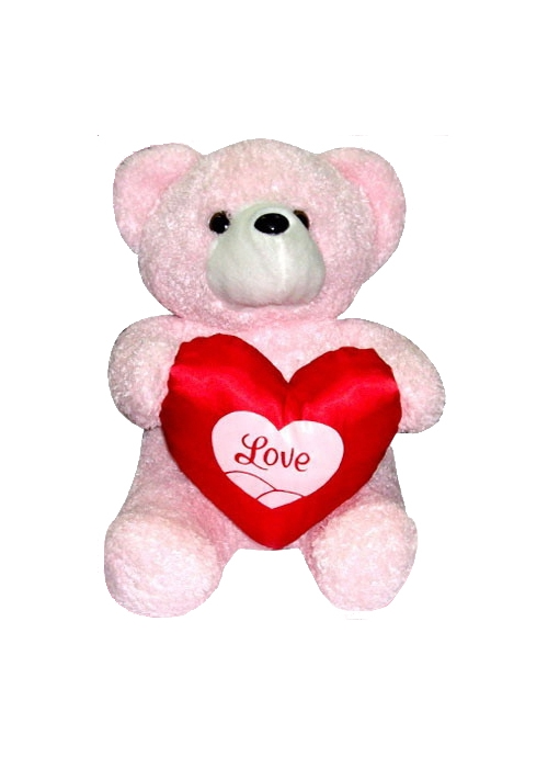 buy pink bear with love heart in manila